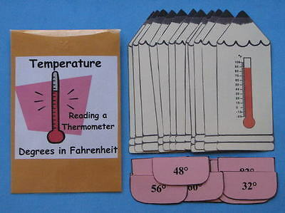 Teacher Made Center Temperature Reading a Thermometer