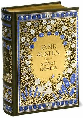JANE AUSTEN ~ SEVEN NOVELS ~ LEATHER GIFT EDITION - FREE SHIP AVAIL