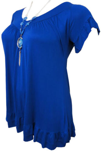 LADIES PLUS SIZE NECKLACE GYPSY TOPS WOMENS TUNIC BOHO TOPS 16 18//20 22//24 26//28