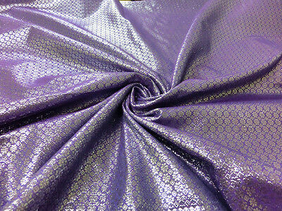 LAVENDER SILVER BLING FLORAL METALLIC BROCADE FABRIC WEDDING CHAIR SASHES BOW
