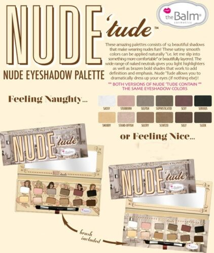 Nude Tude- by The Balm!! Nude Eyeshadow PaletteAUTHENTIC-NOT from Hong Kong!!