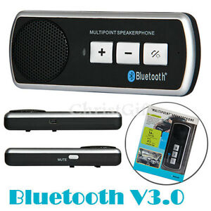 Bluetooth-Handsfree-Car-Kit-V3-0-With-Sun-Visor-Clip-Drive-And-Talk