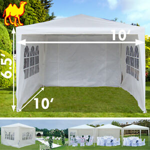 Wedding-Party-Tent-10x10-White-PE-Gazebo-Canopy-BBQ-easy-assembling-New