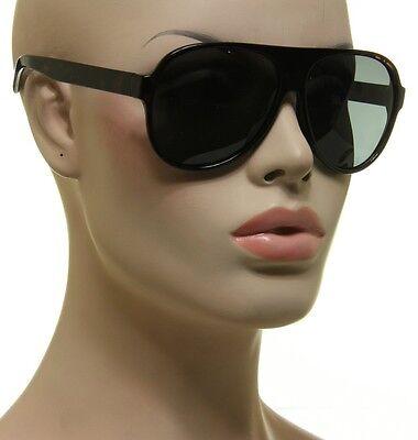 Polarized Aviator Sunglasses Mens Womens Retro Fashion Brown Tortoise Frame