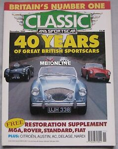 Classic-Sportscar-11-1993-featuring-Austin-Healey-MG-AC-Ace-Jaguar-Triumph