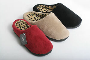 NEW WOMEN COZY LEOPARD PRINT CLOG HOUSE BEDROOM SLIPPERS read ...