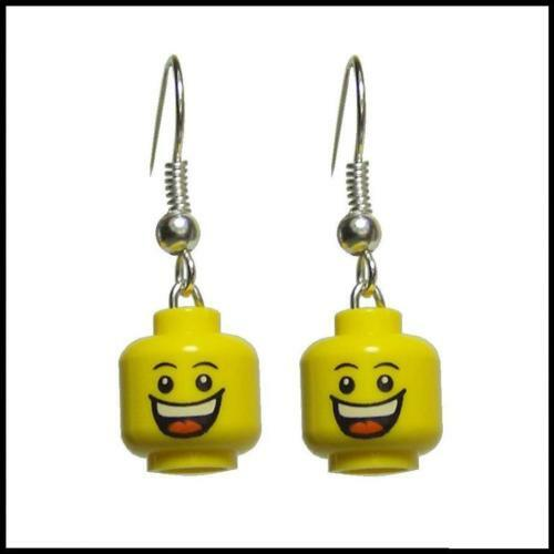 ☆NEW☆ Lego Huge Grin Minifig Earrings (Silver Plated!)