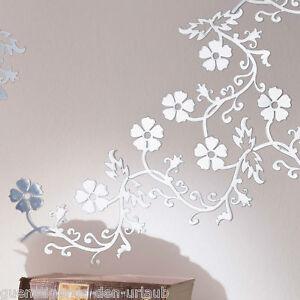 Wanddeko wanddekoration dekospiegel spiegel bl ten ebay - Wanddeko spiegel ...