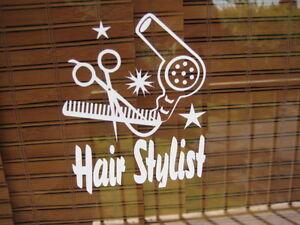 Hair-Stylist-FREE-Bonus-Decal-Hair-Dresser-Beauty-Salon-Decal-Sticker-Blow-Dryer