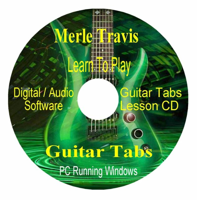 Merle Travis *GUITAR TABS * Lesson Software CD