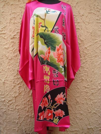 Sleepwear Dresses Kimono Pyjama Night Dress Red Nightwear Oriental Kaftan Robes