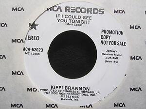 "Kippi Brannon - IF I COULD SEE YOU TONIGHT Promo 7"" Single ..."