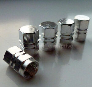 Silver-Hex-Alloy-Tyre-Dust-Valve-Caps-for-Mercedes-A-B-C-E-Class-SLK-CLK-Coupe