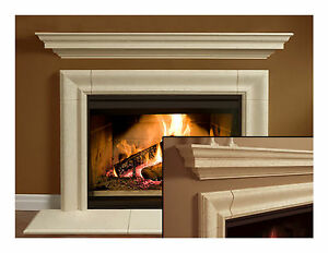 Fireplace Mantel (mantle) Surround Simplicity Design Cast ...