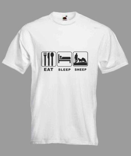 Eat Sleep Sheep Shephard  Funny T-shirt in all Sizes and choice of colours