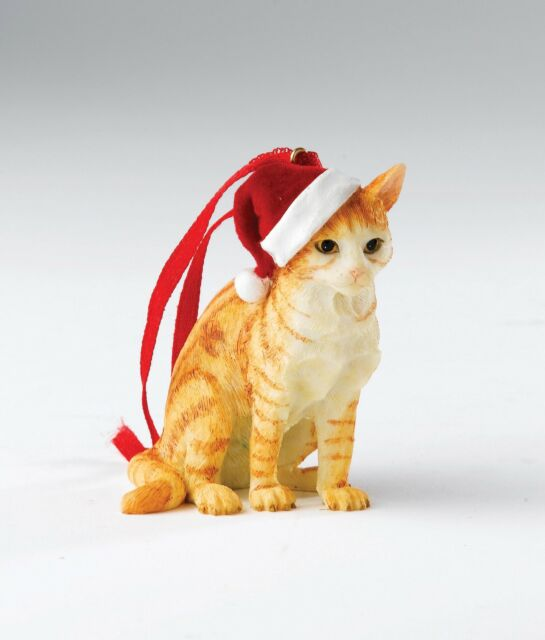 Country Artists Ginger Tabby Cat Hanging Ornament Figurine NEW 18573