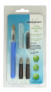 MANUSCRIPT-3-NIB-BEGINNERS-CALLIGRAPHY-FOUNTAIN-PEN-INK-CARTRIDGE-SET ...