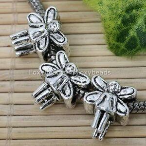 20P-Tibetan-Silver-Angel-Spacer-Bead-Fit-Charm-Bracelet