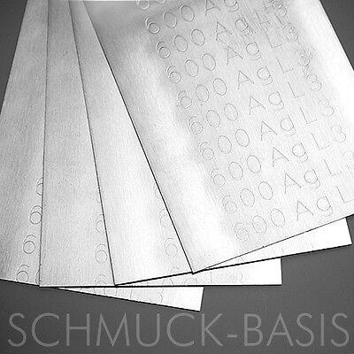 10 Gramm Silberlot ( weich; 675 Grad ) als Blech für Juweliere;  60% Ag; cd-frei