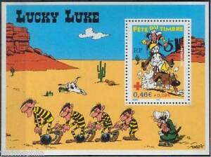 STAMP-TIMBRE-FRANCE-NEUF-BLOC-N-55-FETE-DU-TIMBRE-LUCKY-LUKE