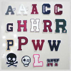 image is loading new chenille alphabet letter patches for varsity letterman