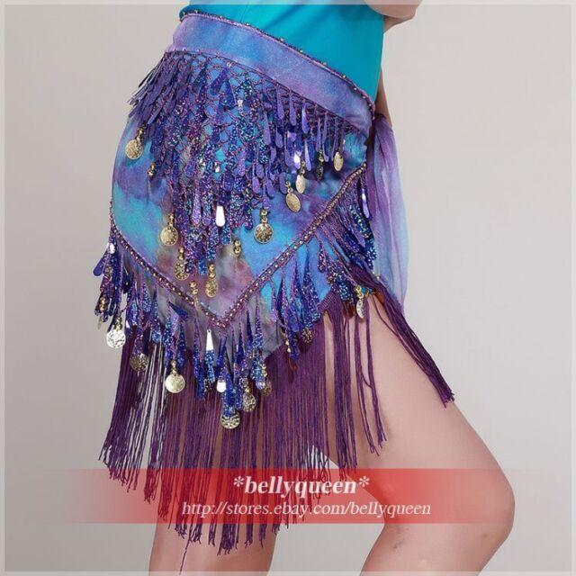 new 2012 Belly Dance Costume Dress Dancewear Hip Scarf Wrap Belt Colourful