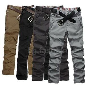 2016-Mens-Slim-Fit-Straight-Leg-Jeans-Trousers-Casual-Skinny-Pencil-Dress-Pants