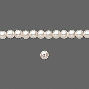 100 - 4mm Round Czech Glass Pearl Beads - Pink