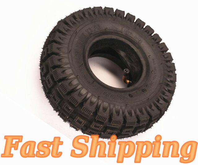 """New MOTOVOX MVS10 3.00-4 10""""x3"""" 260x85 43cc 49cc SCOOTER TIRE WITH INNER TUBE"""