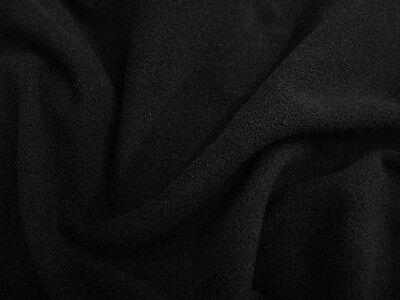 1m+ Black Micro Fleece Wide Width Fabric (2m Wide)