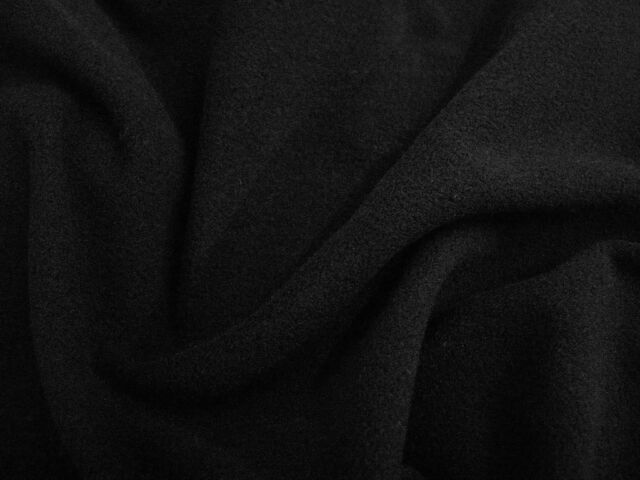 1m+ Black Micro Fleece 150cm Wide