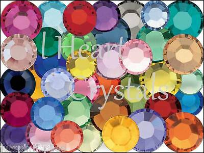 MIXED COLORS 4mm 16ss 144 piece SWAROVSKI Crystal 2058 2088 Flatback Rhinestones