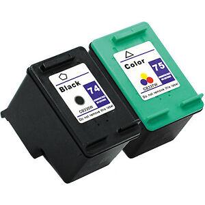 2PK-HP-74-75-Ink-Cartridges-HP74-HP75-CB335WN-CB337WN-For-HP-PhotoSmart-Printer