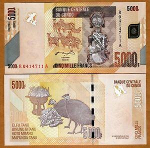 Congo-D-R-5000-5-000-Francs-2005-2012-P-New-UNC