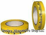 Yellow Paper Measuring Tape 1 inch Theater Lighting