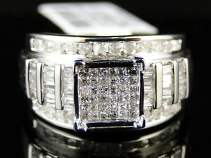 10K-WHITE-GOLD-LADIES-WOMENS-DIAMOND-ENGAGEMENT-WEDDING-BAND-RING-1-CT