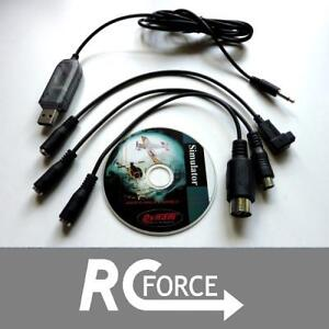 USB-Kabel-Interface-Simulator-Spektrum-DX5e-DX6-DX6i-DX7-DX8-Walkera-ESky-FMS