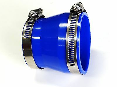 "2.5""-3"" BLUE COUPLER INTAKE REDUCER WITH CLAMPS **JDM STYLE**"