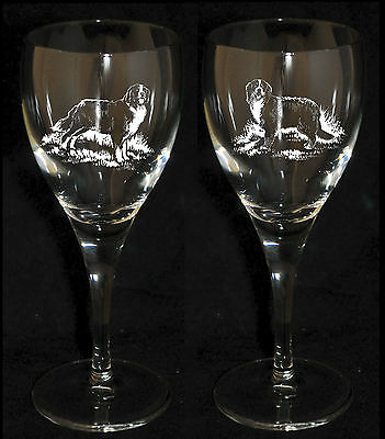 BERNESE MOUNTAIN DOG GIFT - Boxed PAIR WINE GLASS *DOG GIFT*