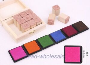 4x-Colorful-Craft-Inkpad-Ink-Pad-Rubber-Stamp-for-Paper-Wood-Fabric-Square-Box