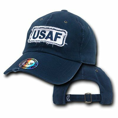 United States Air Force USAF Vintage Washed Military Polo Baseball Ball Cap Hat
