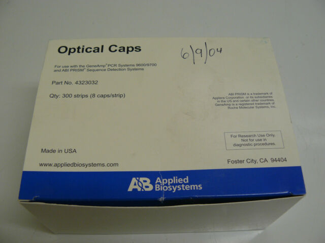 NEW APPLIED BIOSYSTEMS 4323032 OPTICAL CAPS FOR USE WITH THE GENEAMP PCR SYSTEMS