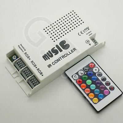 RGB LED Music Sound Sensitive Controller 12V DC For RGB LED Strip Light & Remote