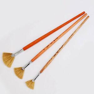 3-Set-Fan-Bristle-Oil-Paint-Brush-Artist-Professional-4-8-12-Aluminium-New