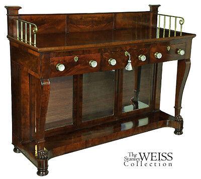 SWC-Mahogany Server & Liquor Cabinet, Phyfe, NY, c.1815