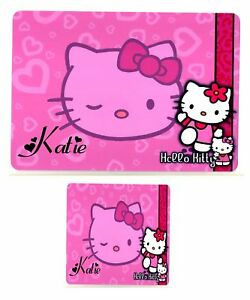 HELLO-KITTY-2-PERSONALISED-PLACEMAT-amp-COASTER