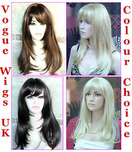 Ladies-Long-Blonde-Full-Fashion-Wigs-Page-Style-Brown-Black-Forever-Young-Wigs