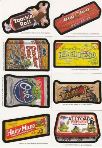 2011 WACKY PACKAGES HALLOWEEN POSTCARD ARTIST BIO CARD COMPLETE SET OF 8 WOW