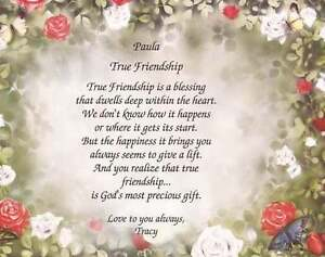 Christmas Blessing Poem.Details About Personalized True Friendship Poem Choose Art Background Birthday Christmas Gift