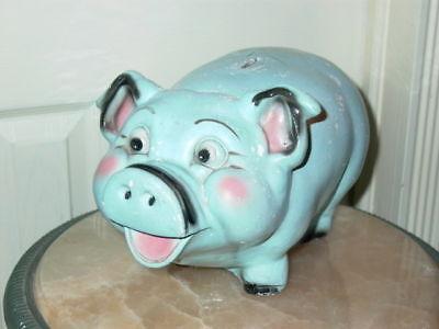 Vintage A.N. Brooks Merch Mart Chalkware Pig Piggy Bank